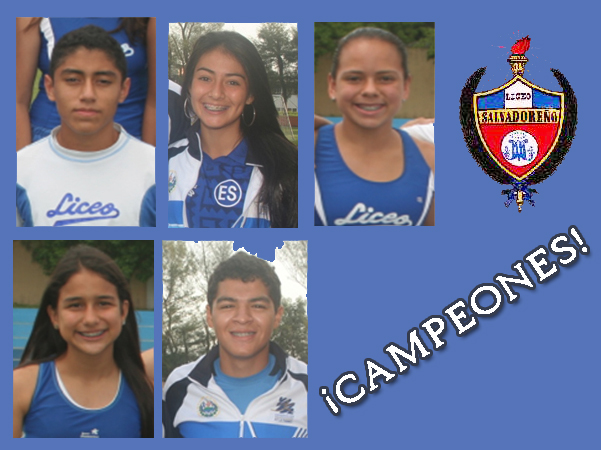 Campeones atletismo